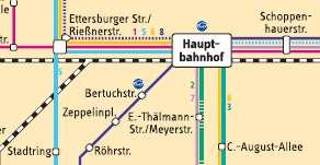 More Buslines in the vicnity of Weimar's Hauptbahnhof
