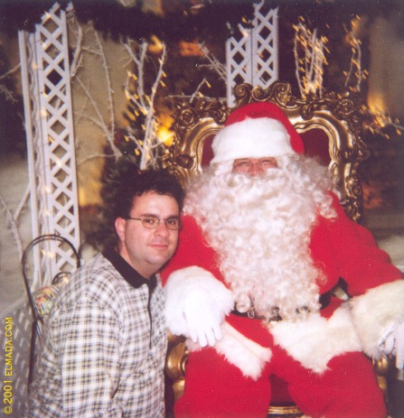 In December 2000, I posed with Santa Claus in Bloomington's Fountain Square Mall.