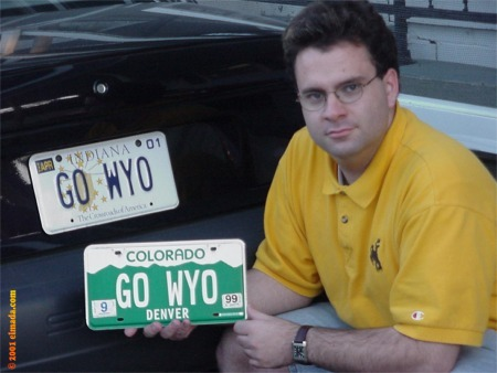 One of my strongest loves is my love of the Wyoming Cowboys.  When I owned a car in the States, I got personalized license plates.
