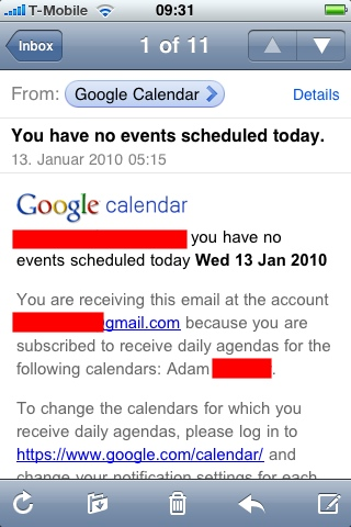 You have no events scheduled today