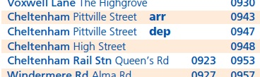 The D Route, according to Stagecoach