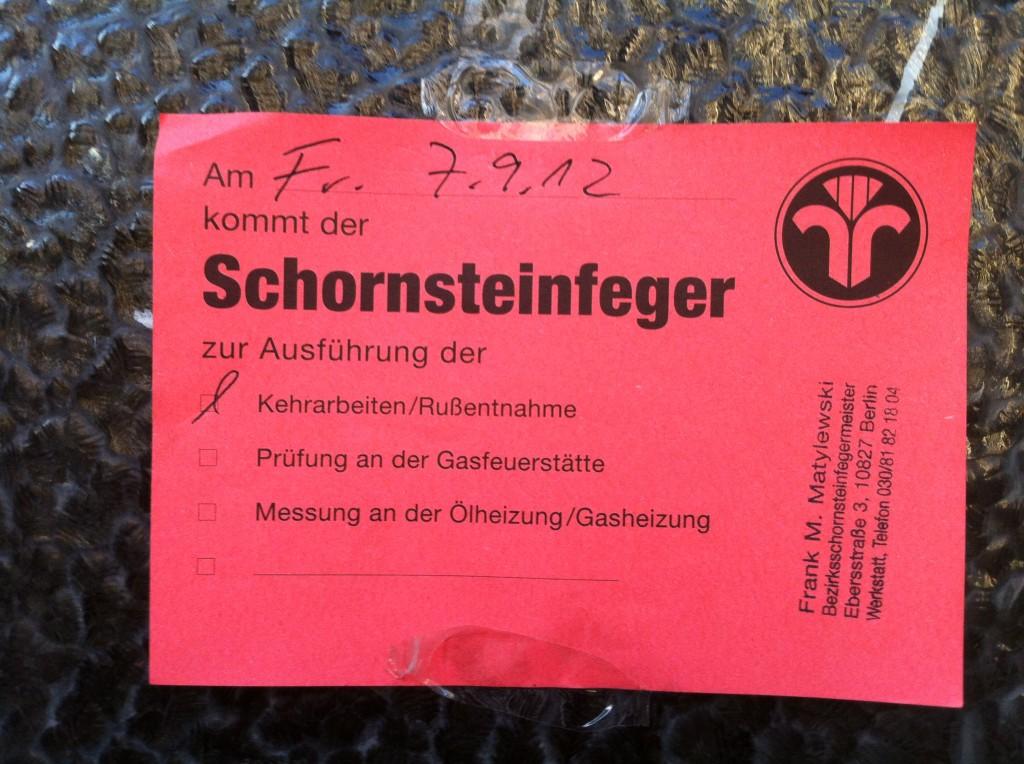 Schornsteinfeger Warning