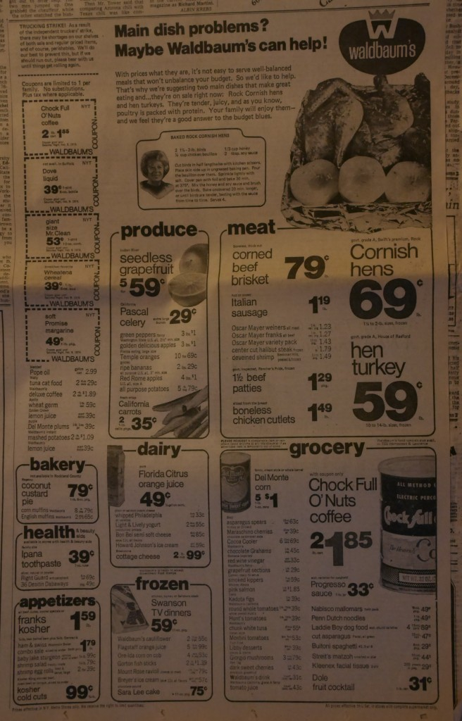 Waldbaum's can help -- Imagine a half gallon of orange juice for just 49 cents! Or a pound of margarine for 49 cents! Or 3 pounds of apples for just a buck!