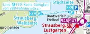 Strausberg, captured from the BVG map